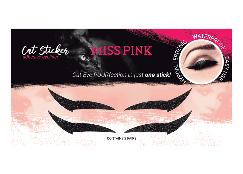 Sexy Kitten (2) - CAT STICKER - ADHESIVE EYELINER - Miss Pink USA