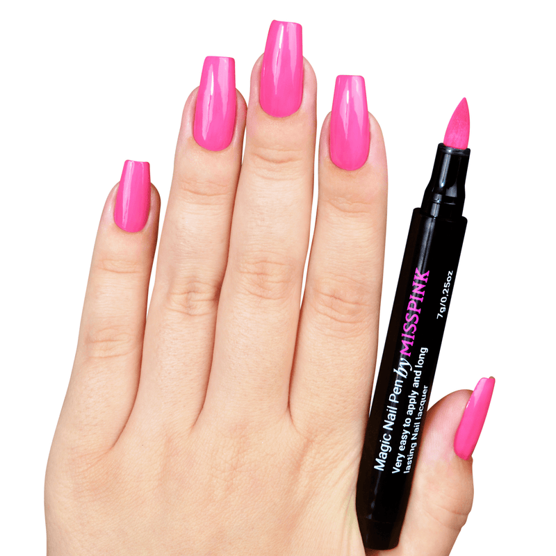 Shiny Pink - Magic Nail Pen - Polish Pen - Miss Pink USA