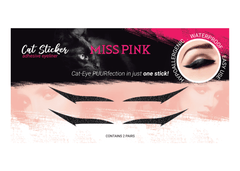Smitten Kitten (8) - CAT STICKER - ADHESIVE EYELINER - Miss Pink USA