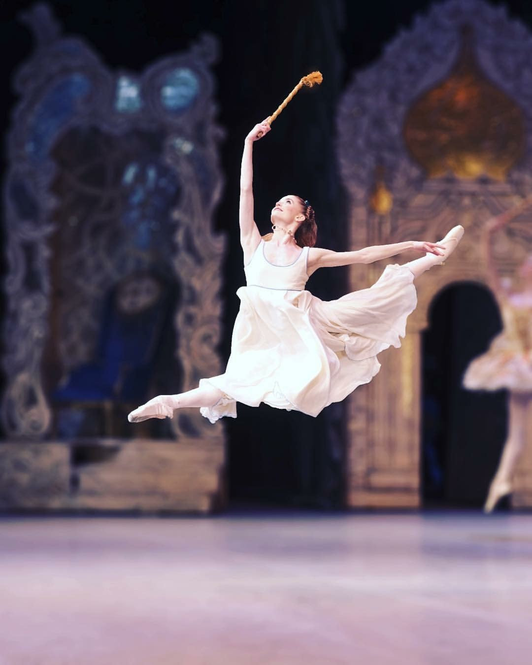 Ballerina Anna Rose O'Sullivan dancing in a live performance on stage