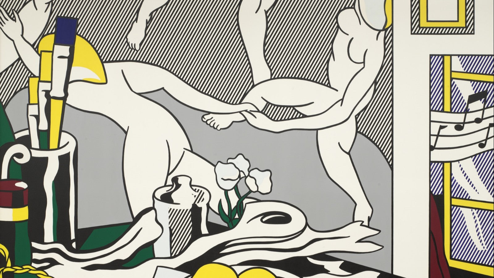 "Artist's Studio ""The Dance"" painting by Roy Lichtenstein (1974)"