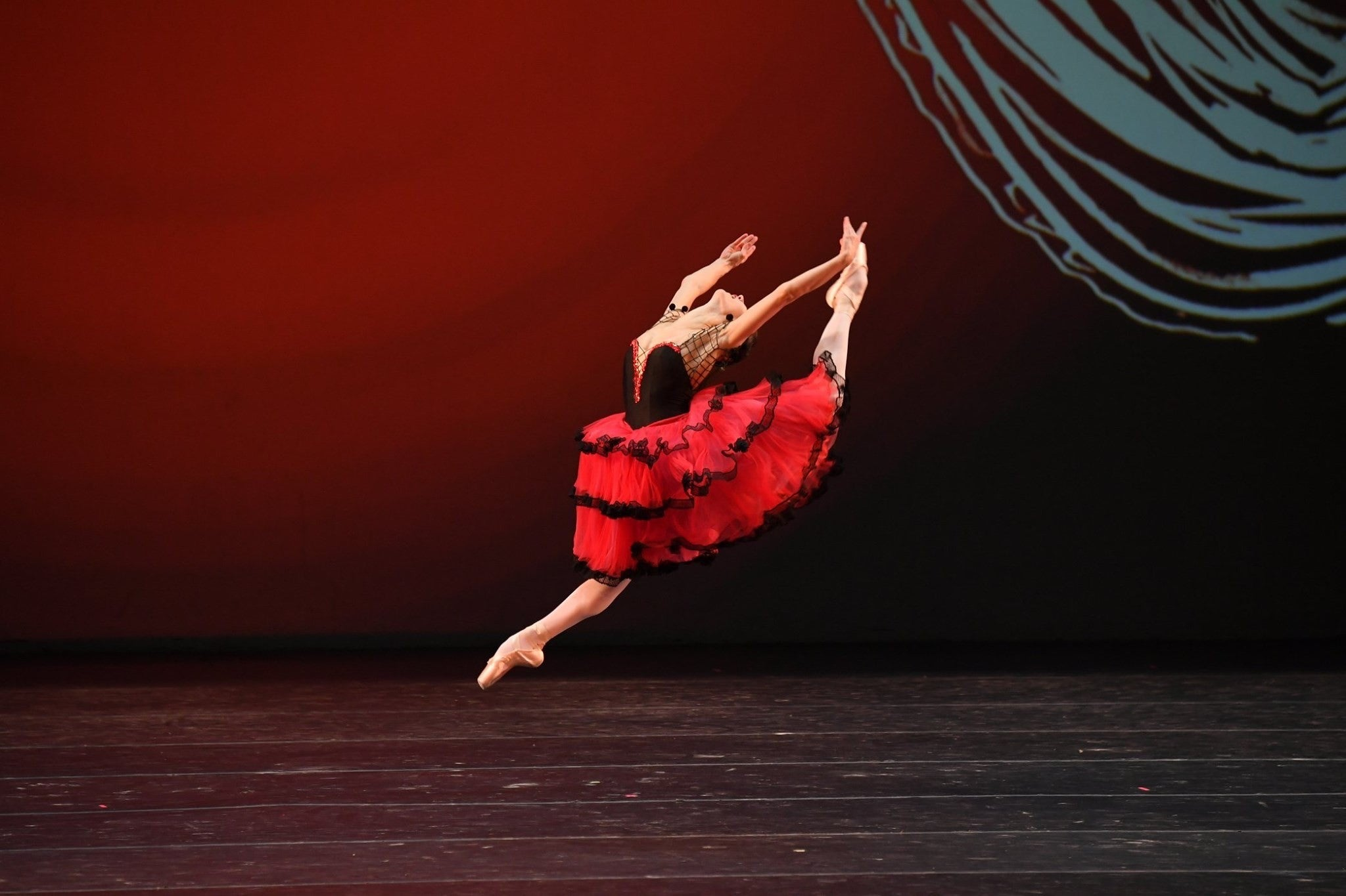 Christine Shevchenko ballet dancing on stage