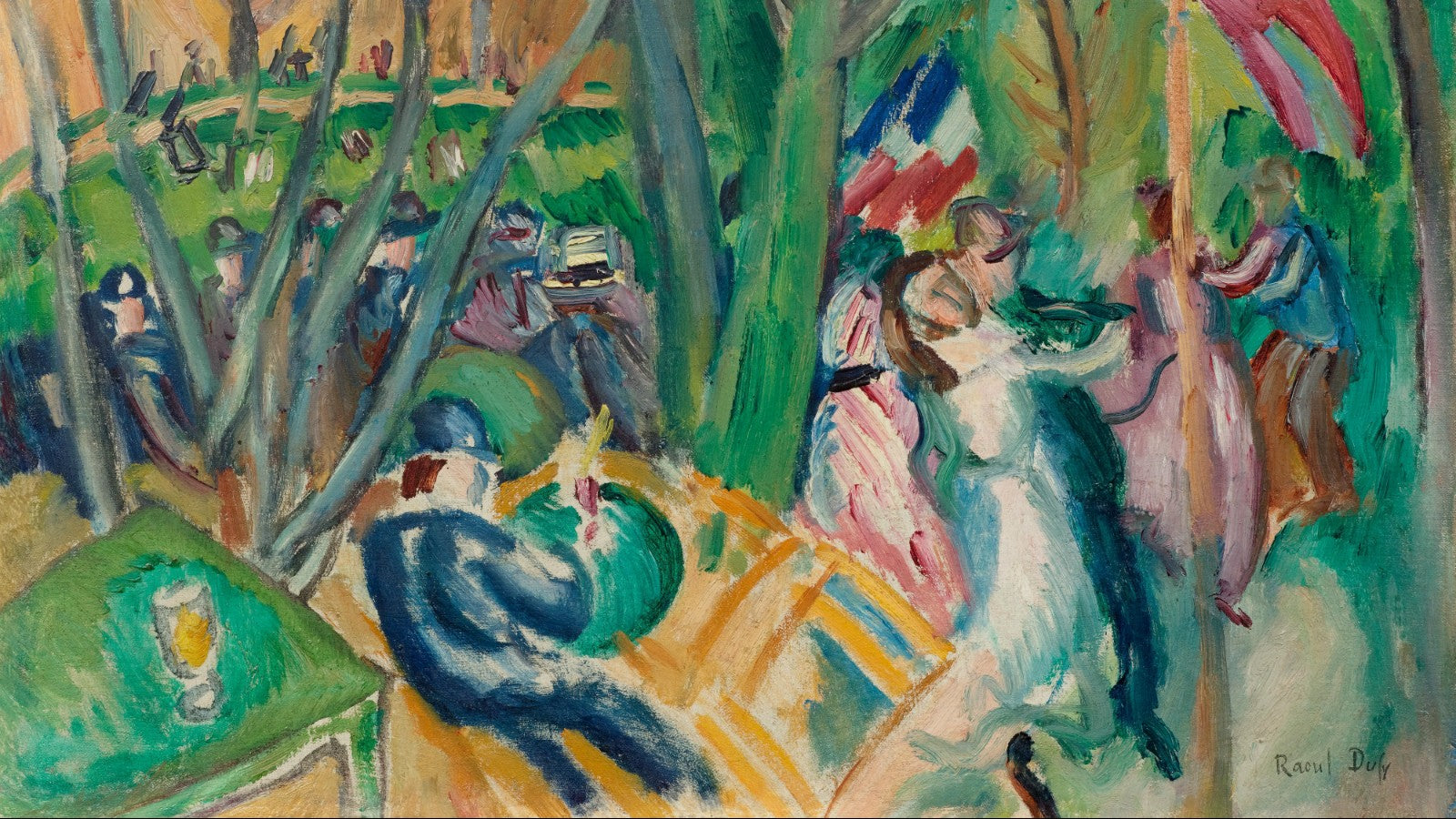 Le Bal Populaire (The Local Dance) painting by Raoul Dufy (1906)