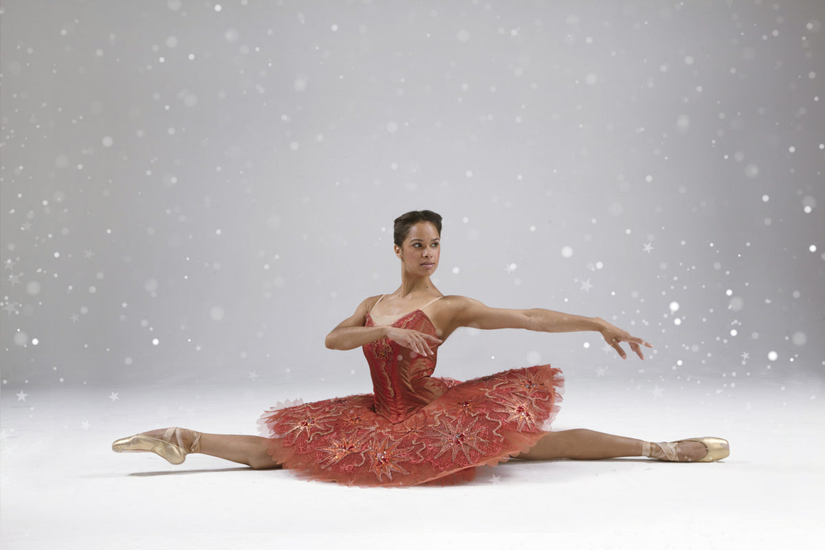 Ballet dancer Misty Copeland wearing Christmas performance costume