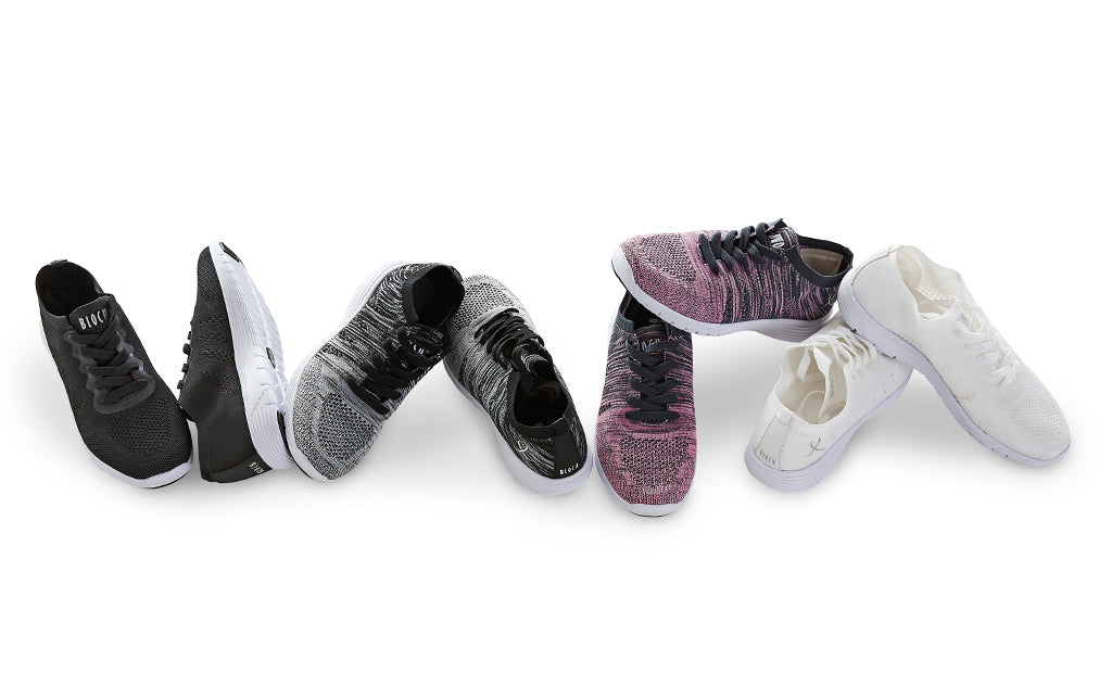 BLOCH OMNIA Knitted Lifestyle Sneaker in black, black white, pink grey and white