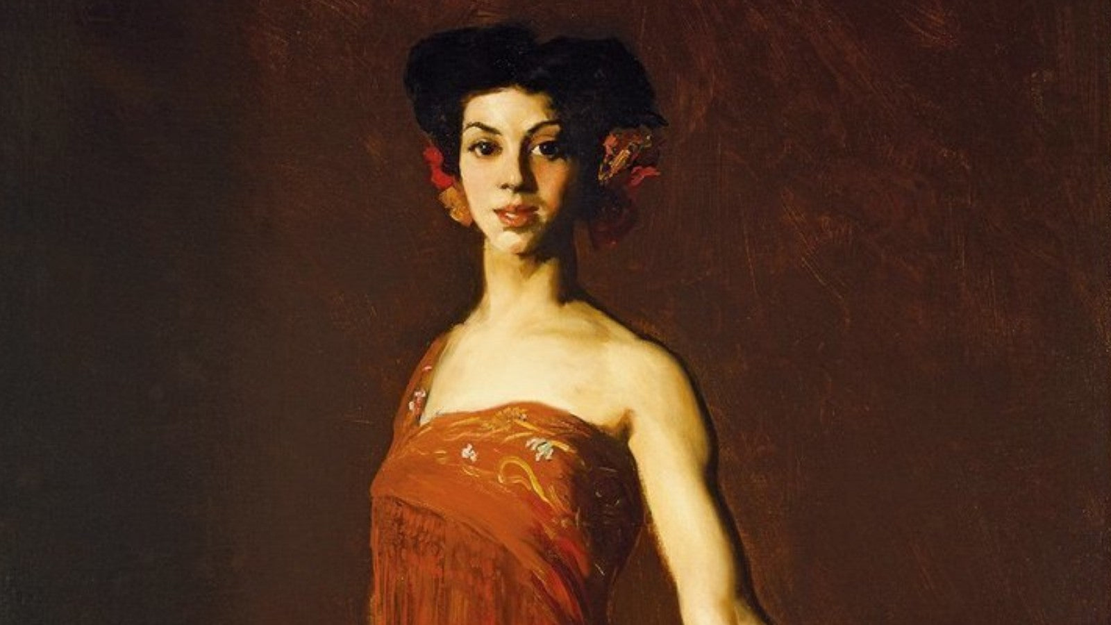 Seviliana (Dancer with Castanet) painting by Robert Henri (1904)