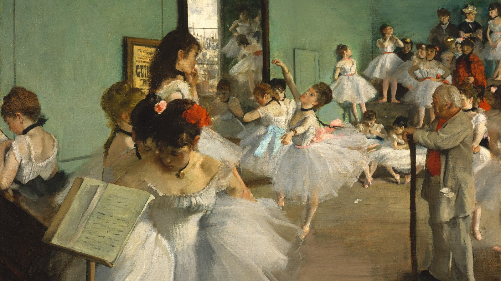 The Ballet Class painting by Edgar Degas (1871-1874)