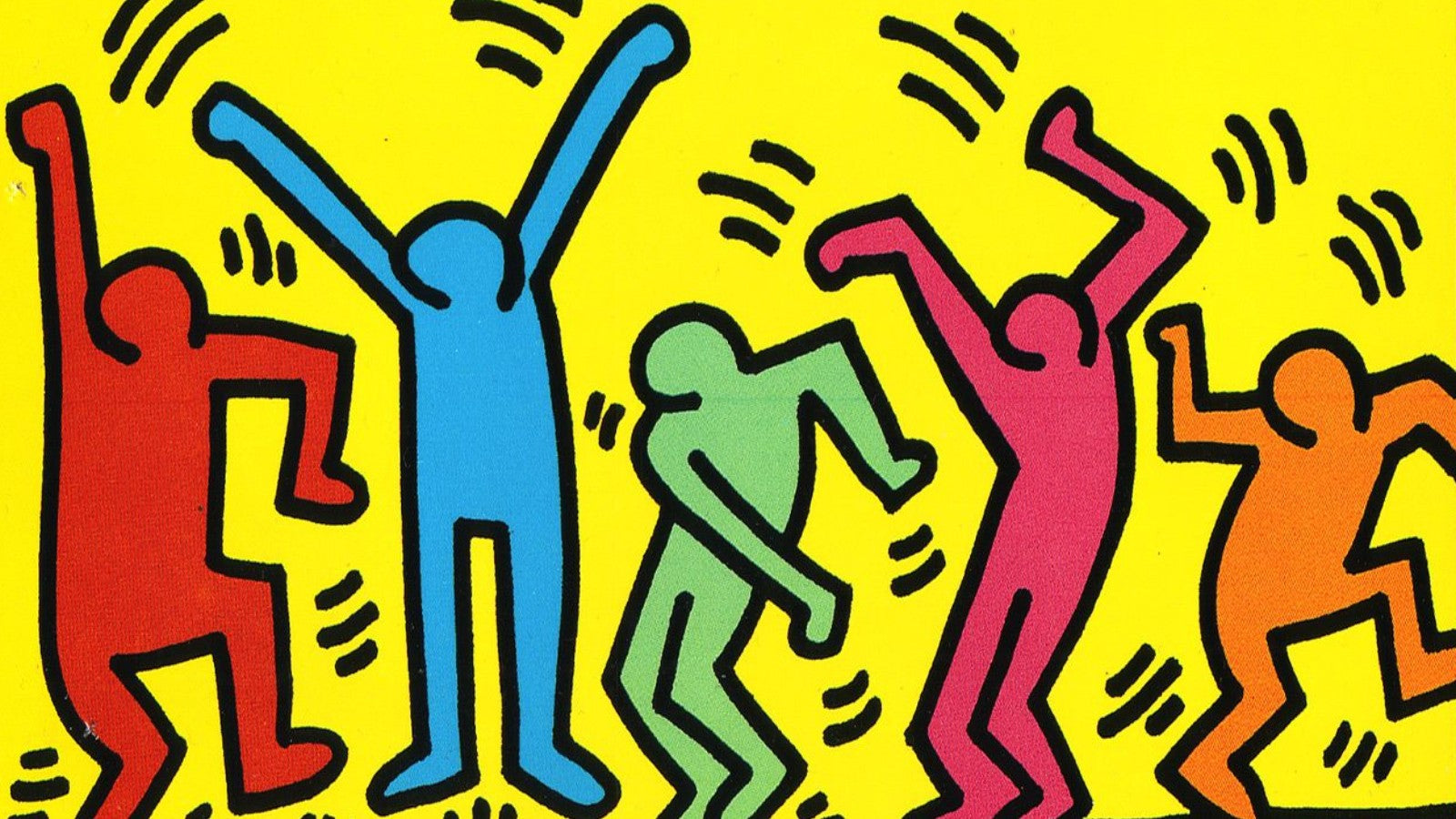 Untitled (Dance) painting by Keith Haring (1987)