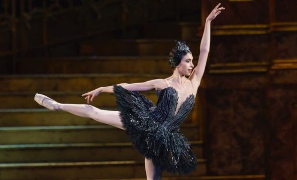 Ballet dancer Yasmine Naghdi performing ballet on stage