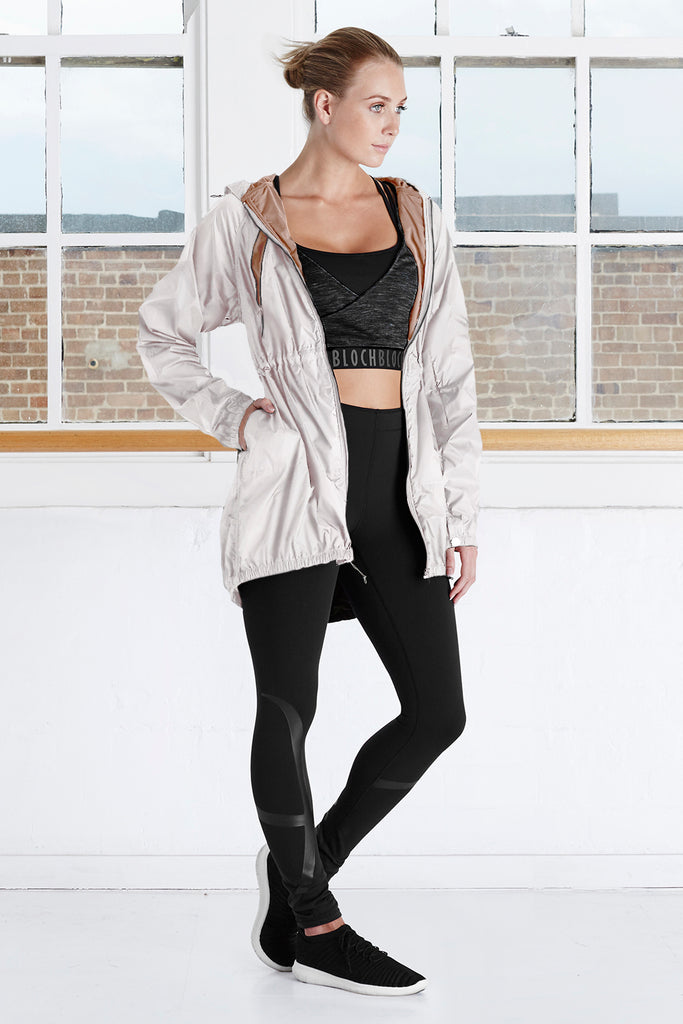 Ladies Long Luxury Hooded Jacket