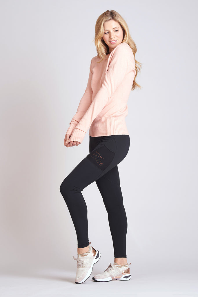 Luxe Knit V-Back Sweater