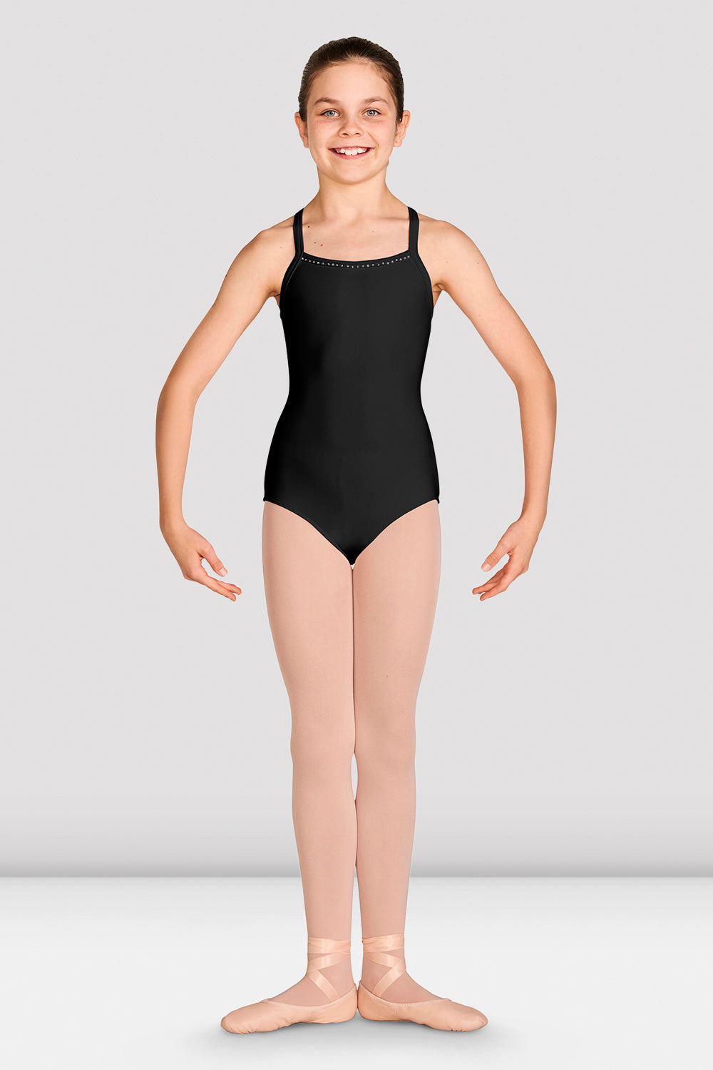 Girls Laila Diamante Camisole Leotard