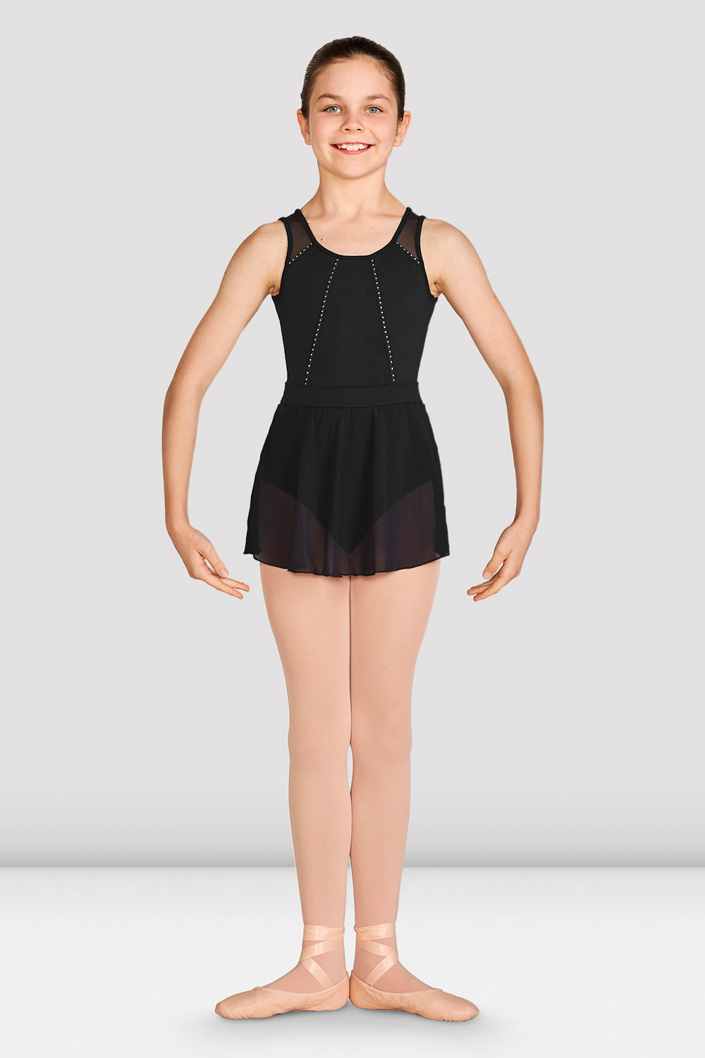 Girls Caidyn Skirted Tank Leotard
