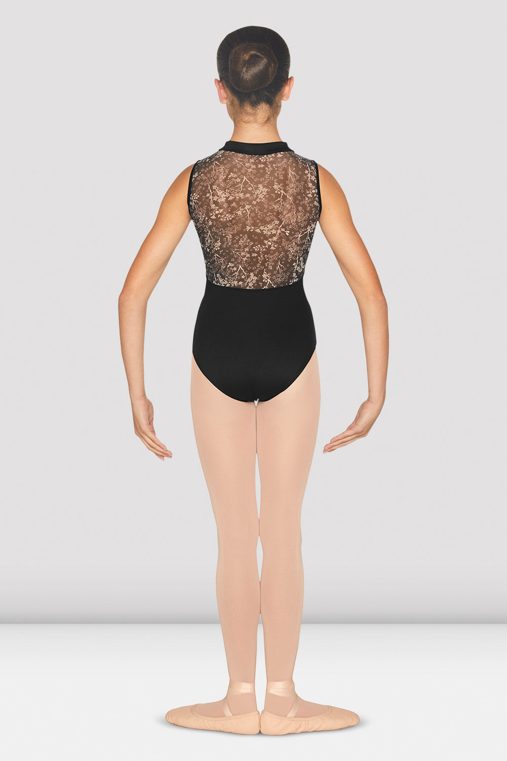 Girls Eletta Mesh Back Tank Leotard