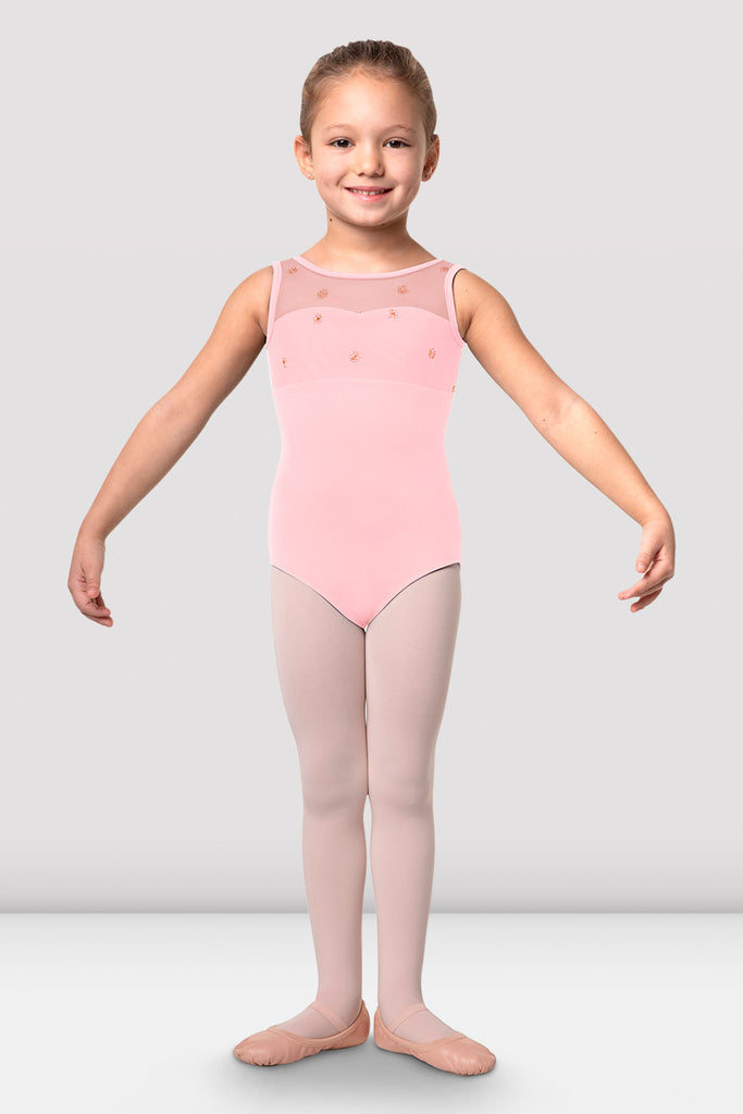 Girls Chiarra Open Back Tank Leotard
