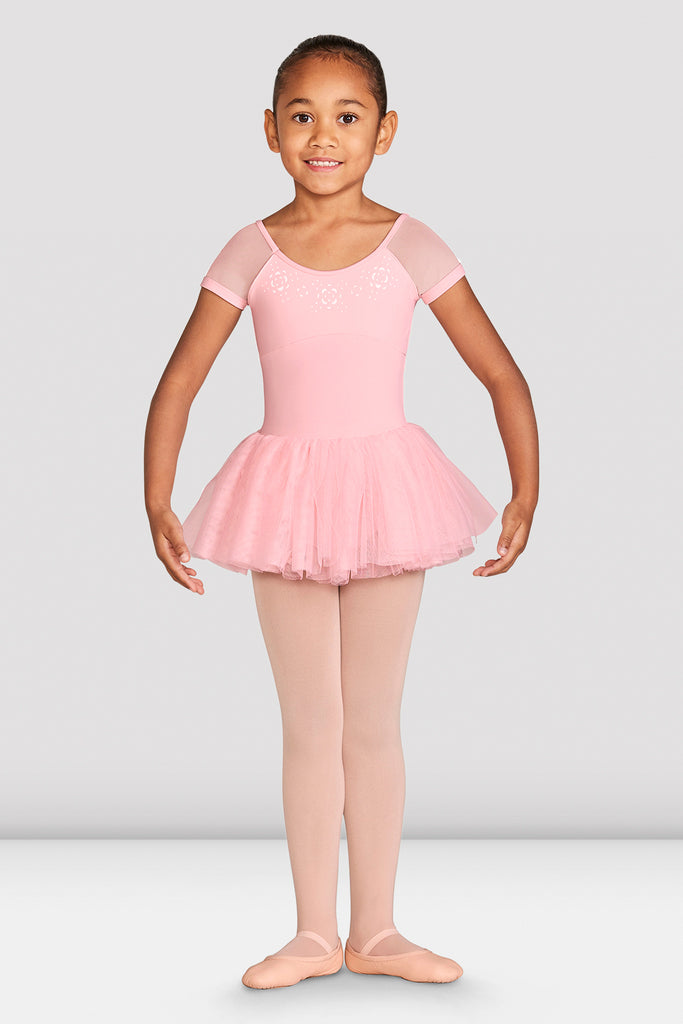 Girls Kaira Cap Sleeve Tutu Dress