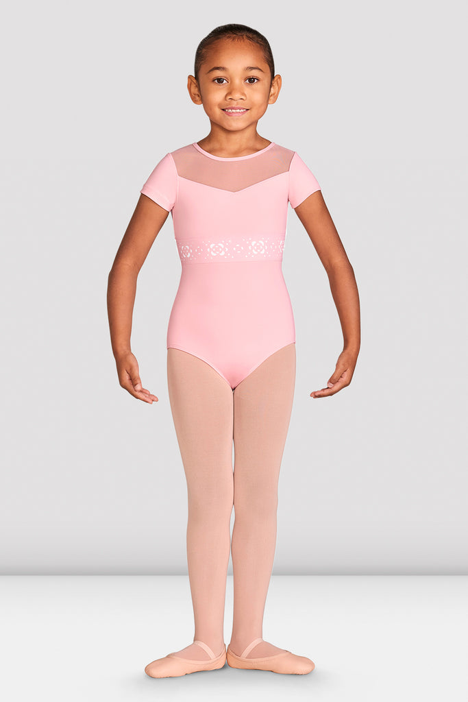 Girls Evelina Cap Sleeve Leotard