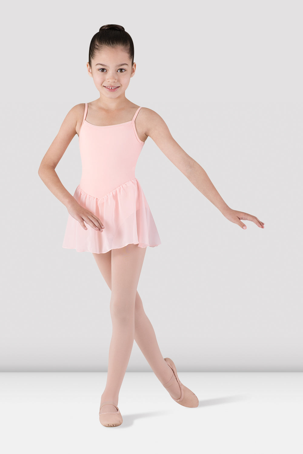 Girls Skirted Camisole Leotard