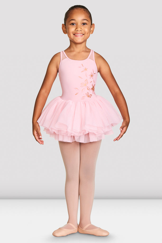 Girls Althea Mesh Back Camisole Tutu Leotard