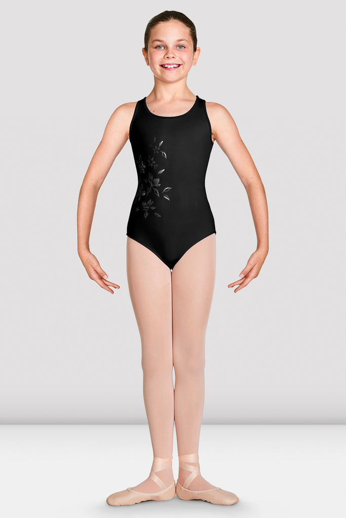 Girls Katana Mesh Wrap Back Tank Leotard