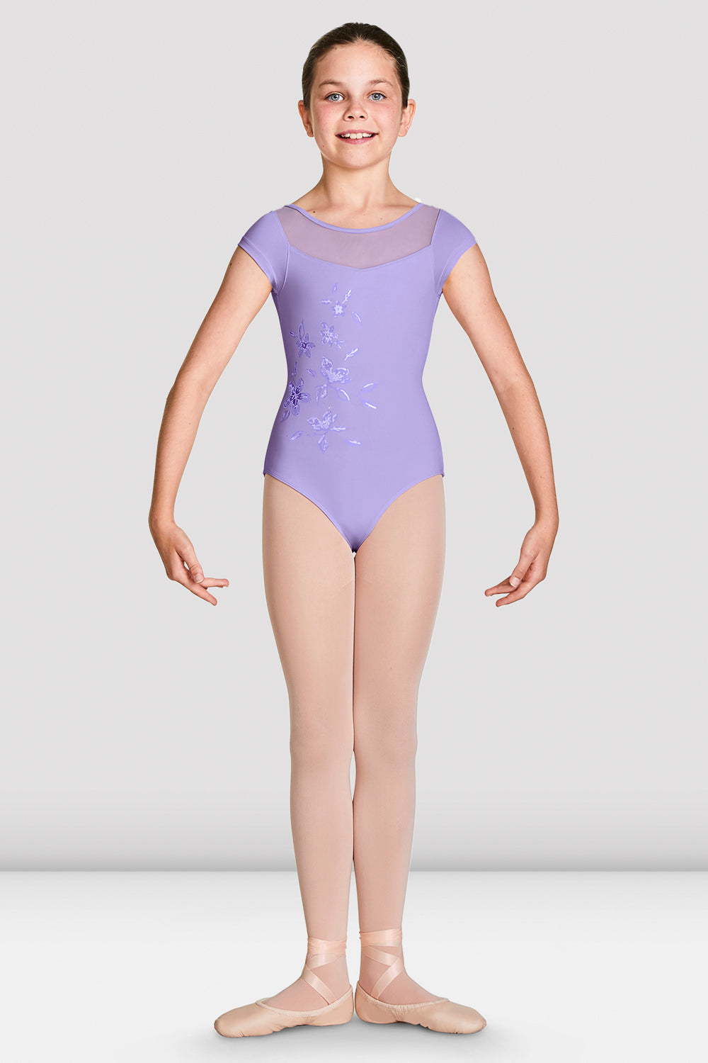 Girls Helena Cap Sleeve Leotard