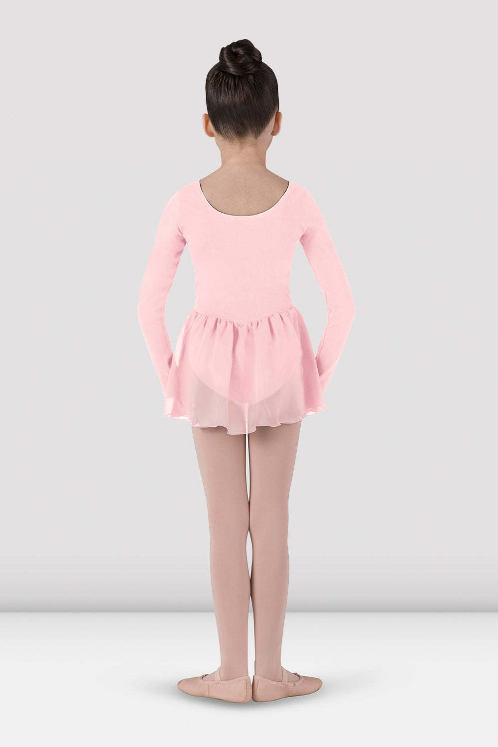 Girls Long Sleeve Skirted Leotard