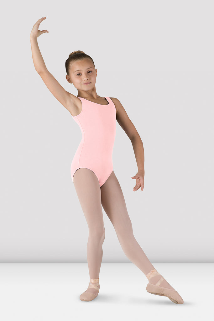 Girls Basic Round Neck Tank Leotard