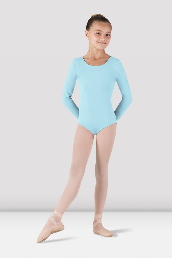 Girls Basic Long Sleeve Leotard