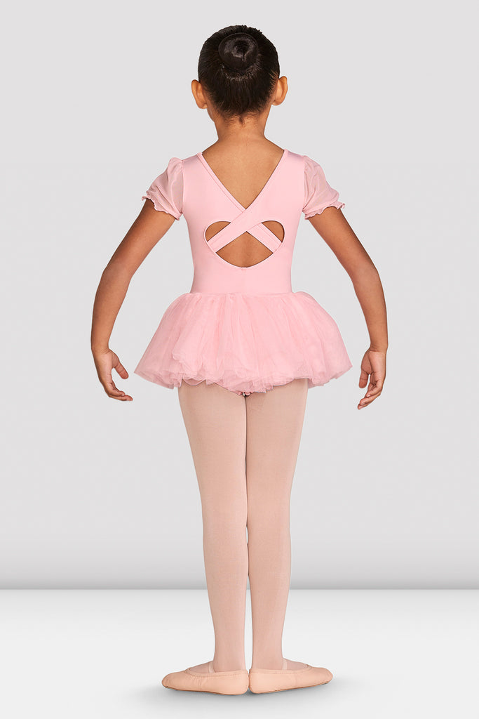 Girls Amelia Frill Cross Back Tutu Leotard