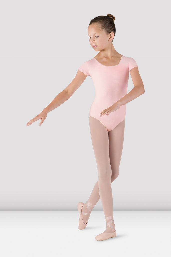 Girls Dujour Cap Sleeve Leotard