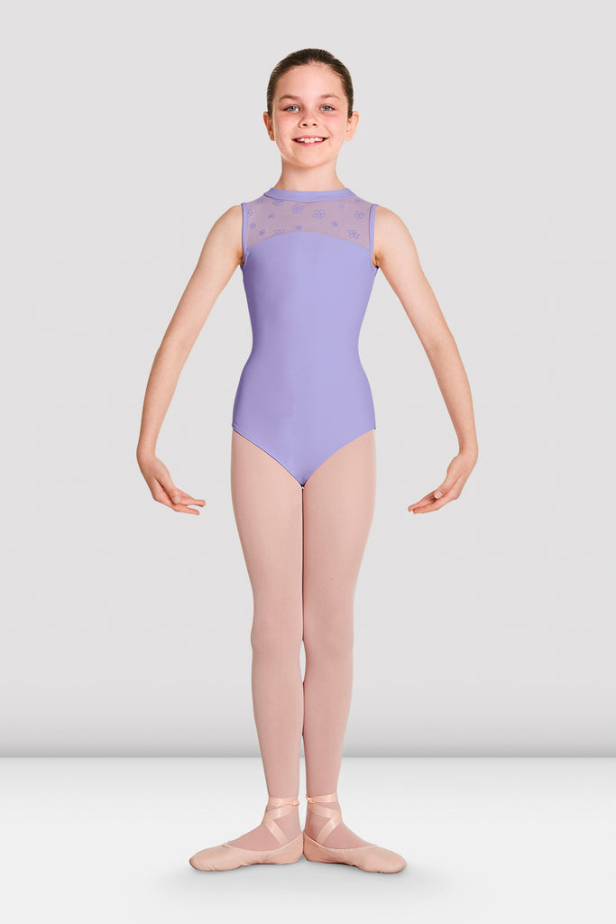 Girls Theodora Mesh Camisole Leotard