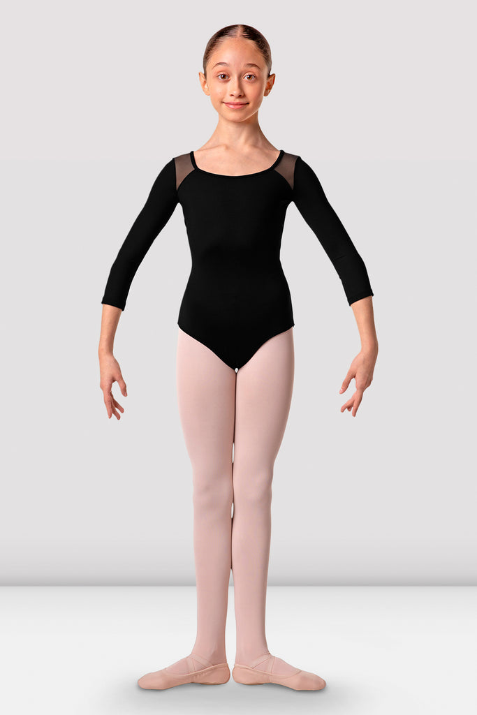 Girls Lea Three Quarter Sleeve Leotard