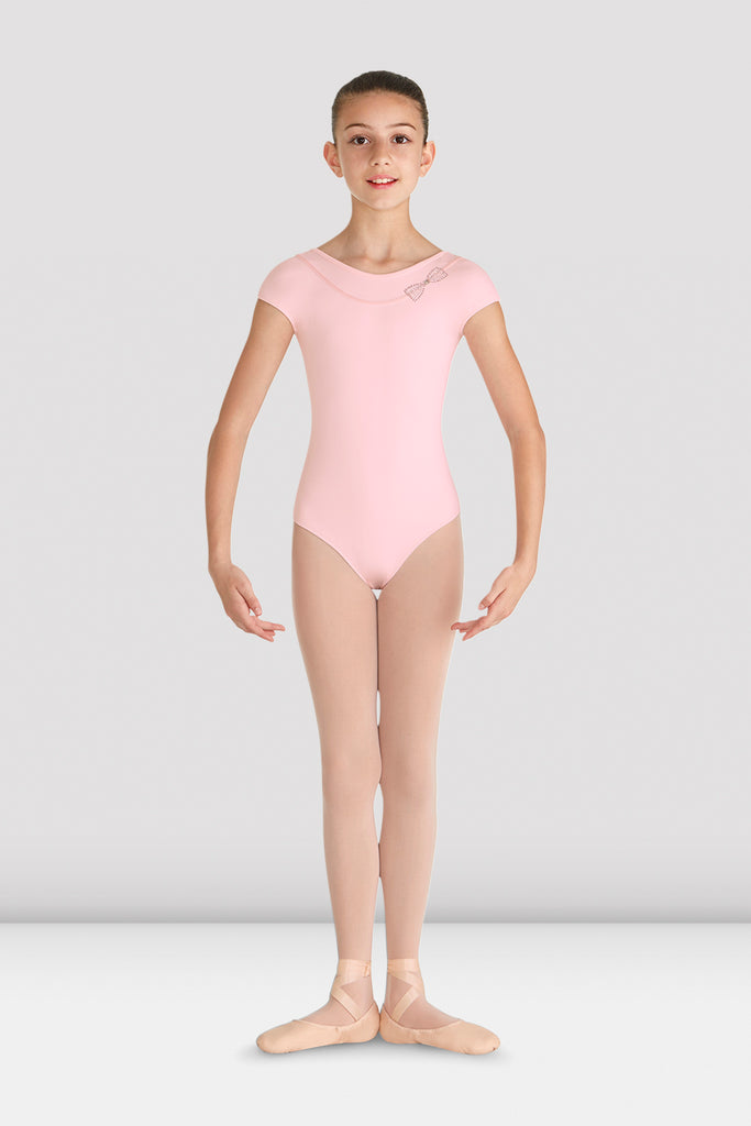 Girls Mirabel Diamante Bow Leotard