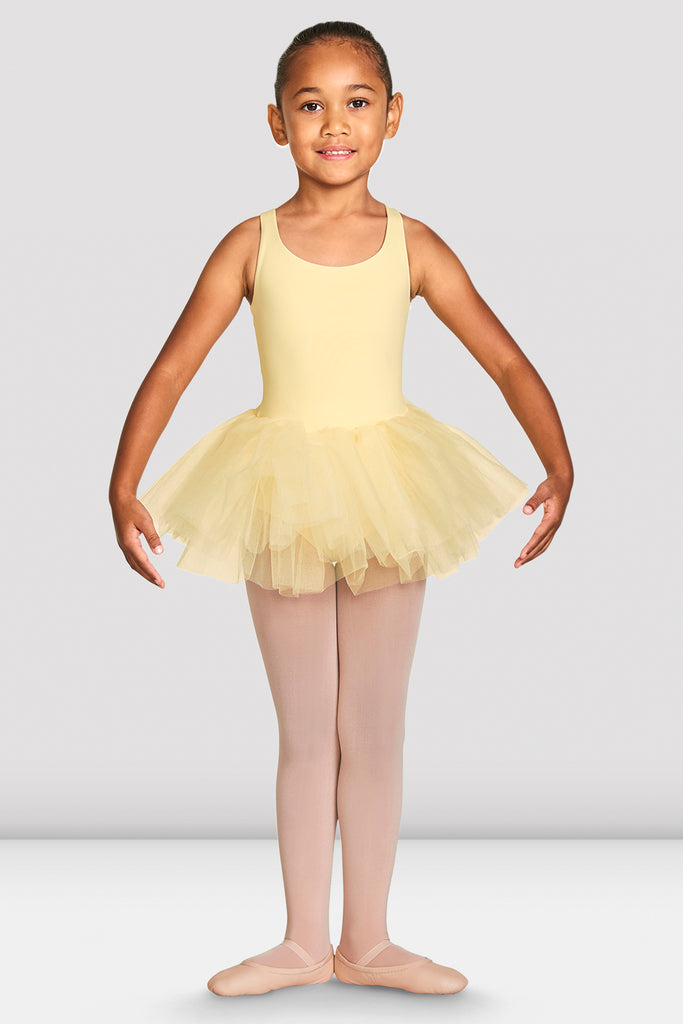 Girls Clara Strap Tank Tutu Leotard