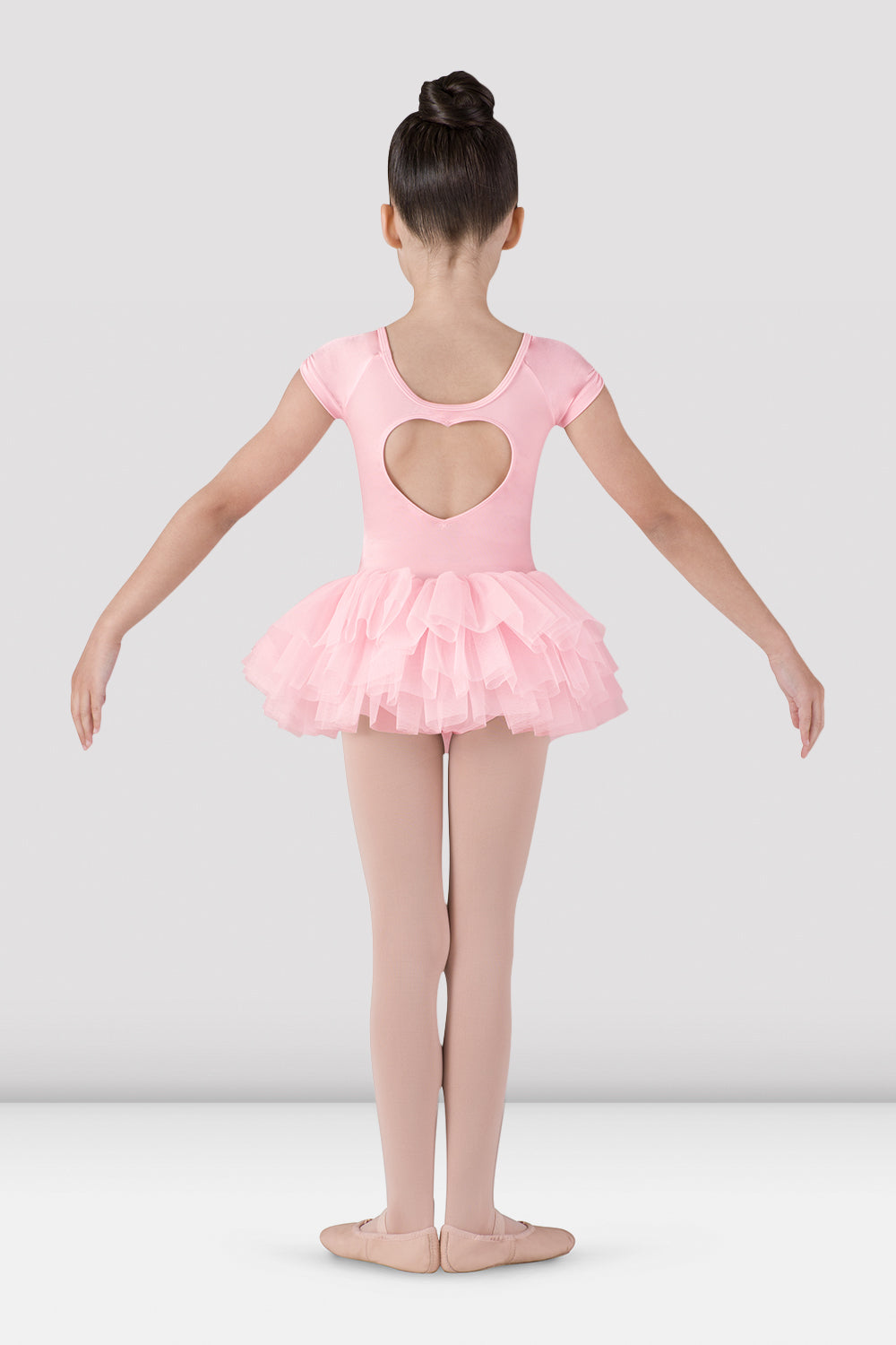 Girls Ife Heart Back Tutu Leotard