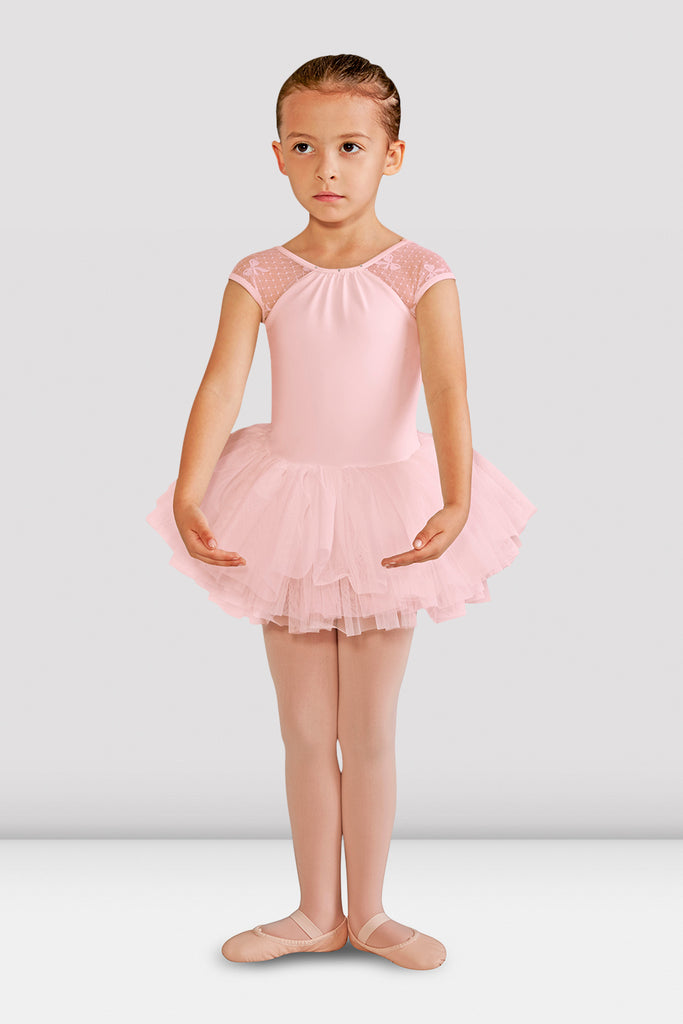 Girls Elenore Bow Mesh Tutu Leotard