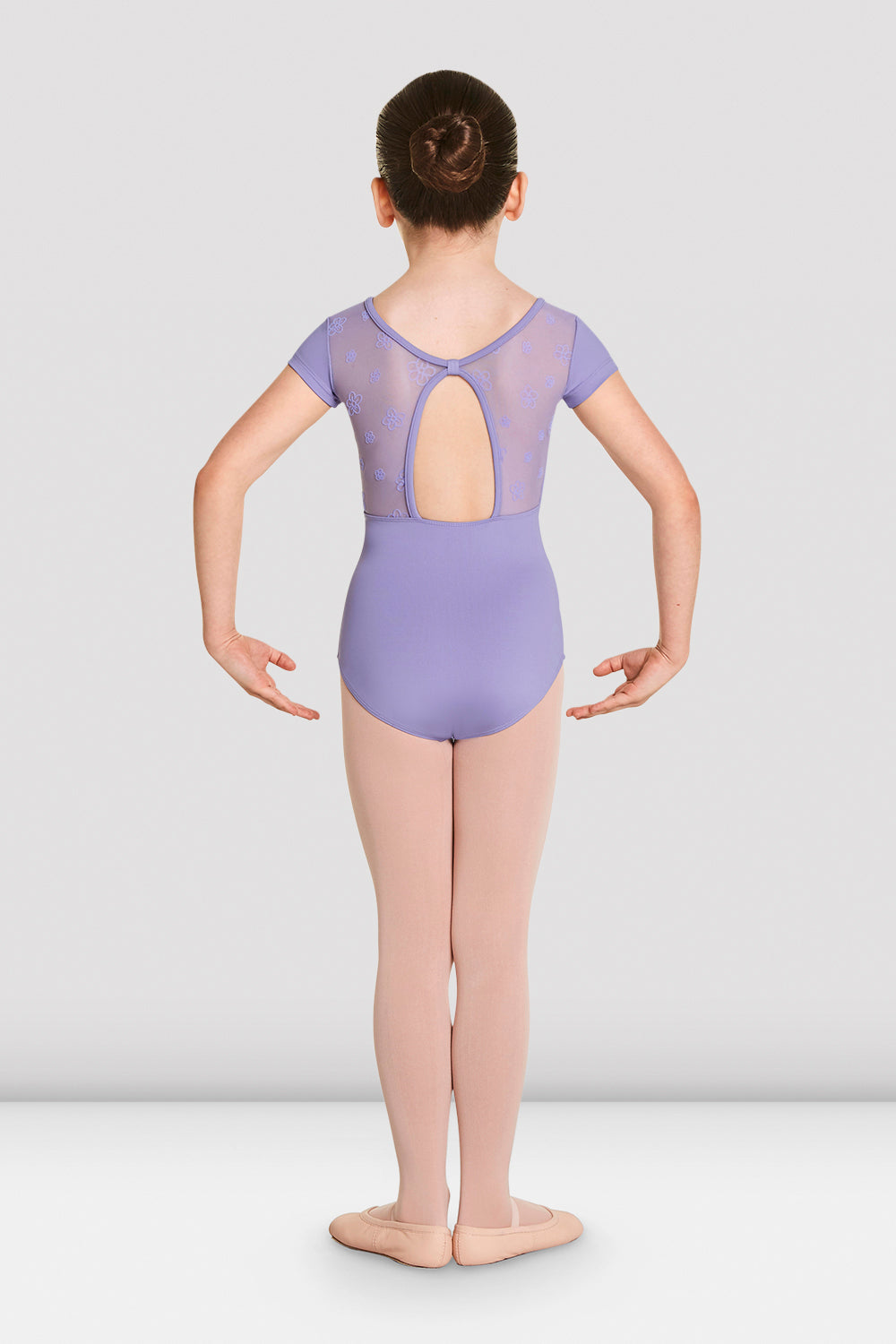 Girls Antheia Short Sleeve Sweetheart Leotard