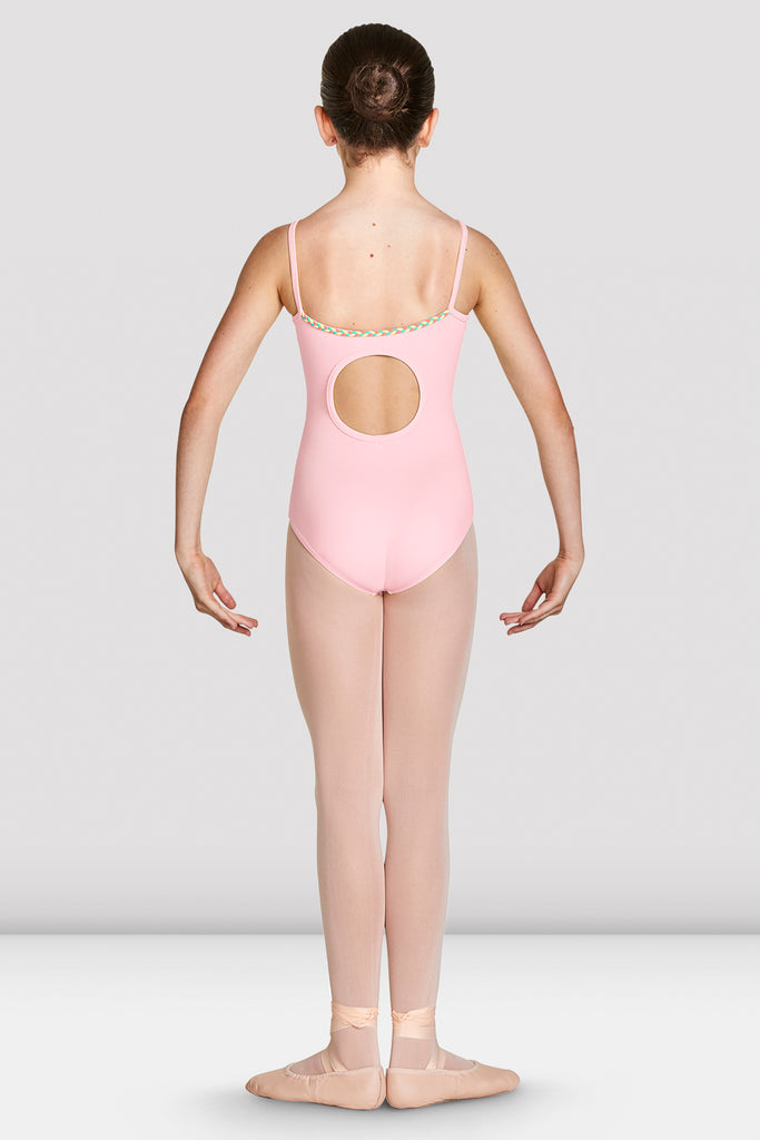 Girls Lucille Cut Out Back Camisole Leotard