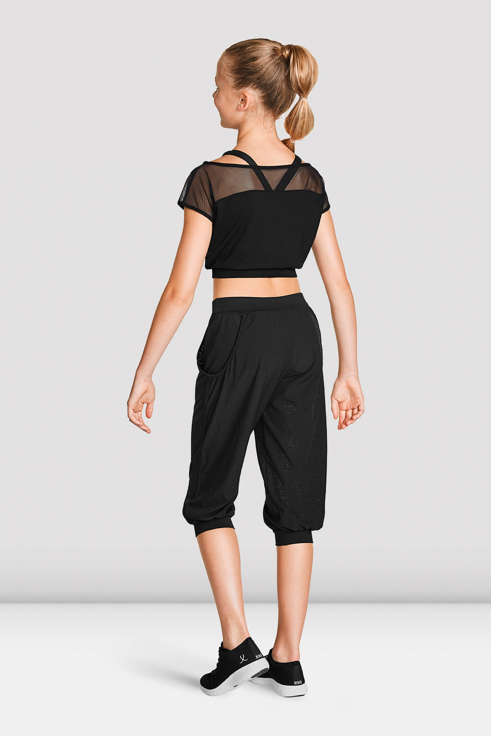 Girls Perforated Crop Pant
