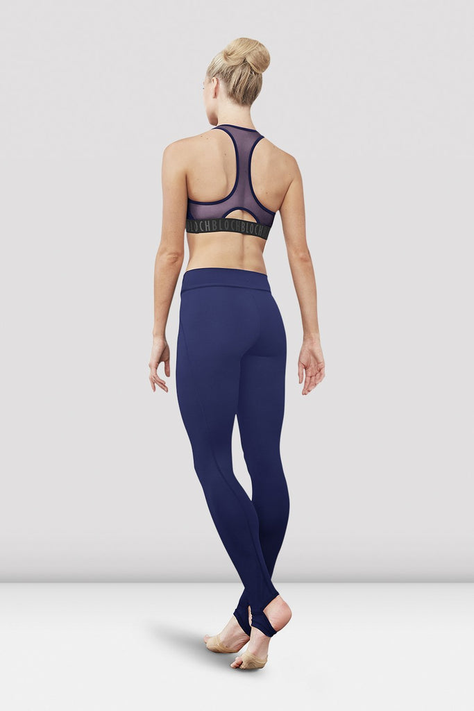 Pacific Bloch Ladies Zyra Waistband Stirrup Legging on female model left level beveled facing upstage right