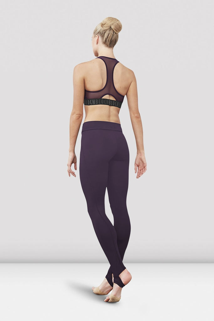 Quartz Bloch Ladies Zyra Waistband Stirrup Legging on female model left level beveled facing upstage right