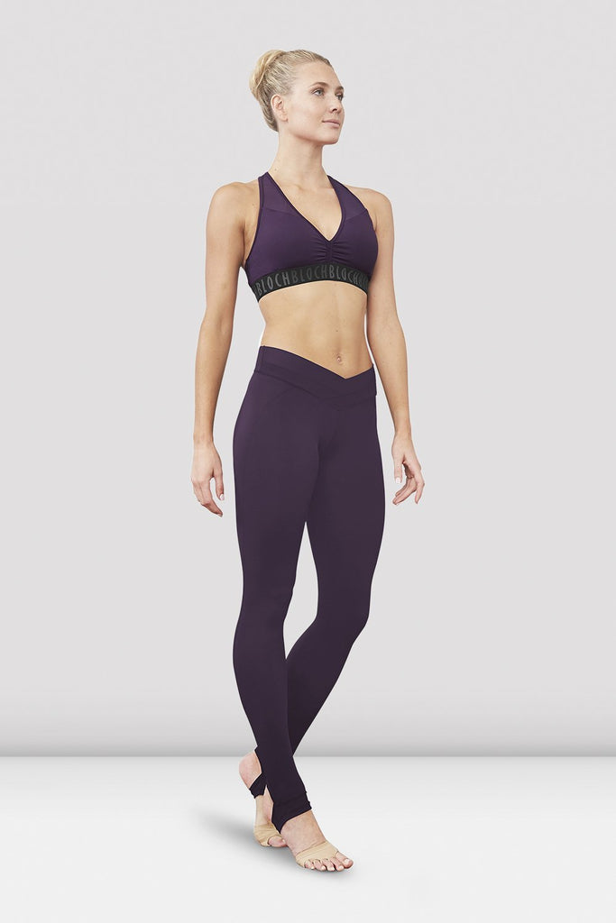 Quartz Bloch Ladies Zyra Waistband Stirrup Legging on female model left level beveled facing downstage left
