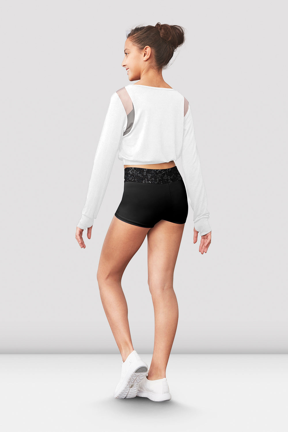 Girls Bianka Long Sleeve Crop Top