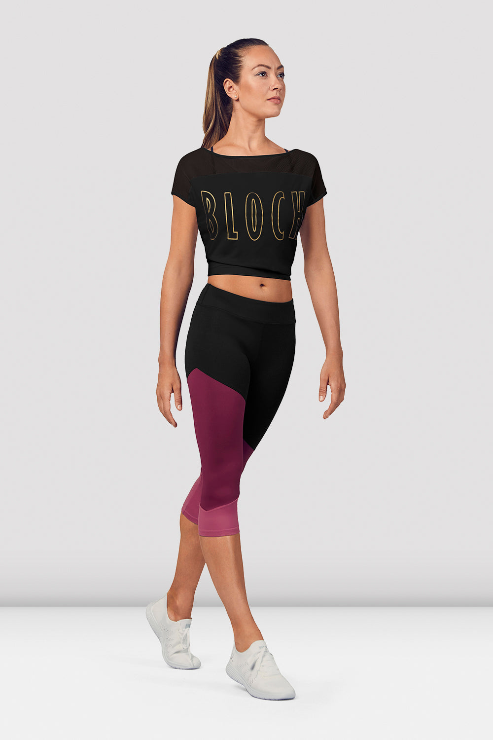 Ladies Crop Mesh Tee