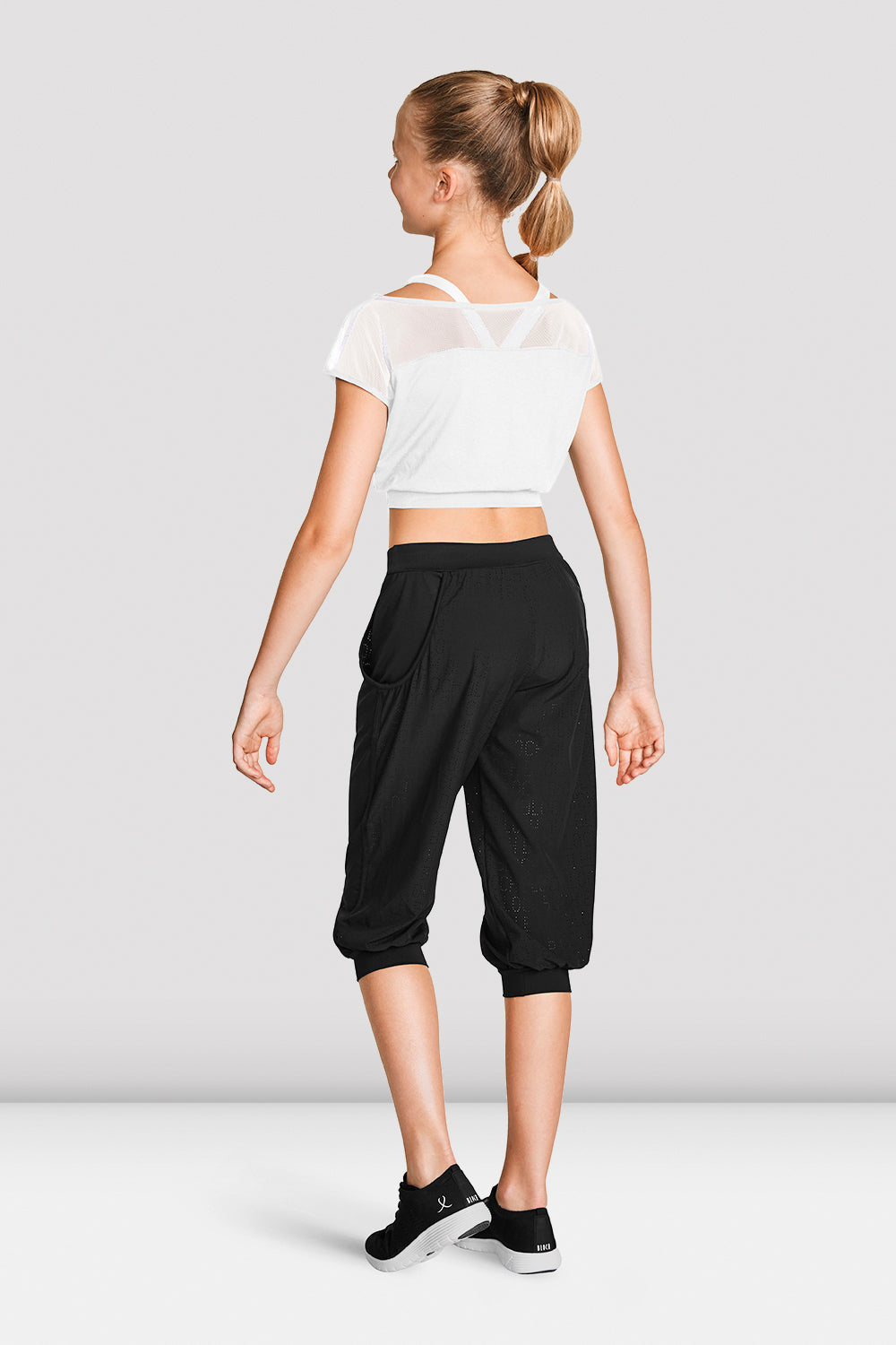 Girls Crop Mesh Tee