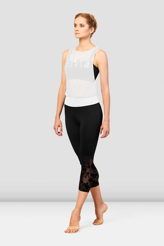 Ladies Bloch Sheer Mesh Top