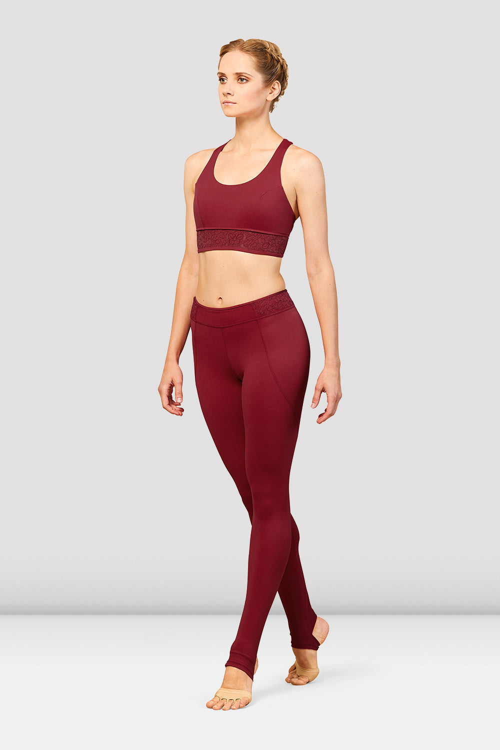 Ladies Bordeaux Trim Stirrup Legging