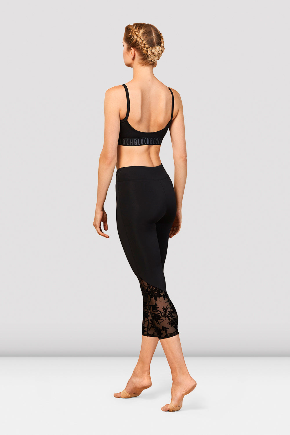 Ladies Bloch Scoop Back Crop Top