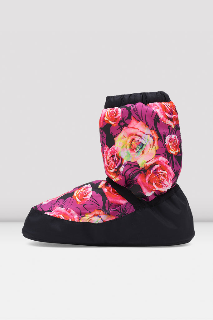 Rose Lavender Floral Warm Up Bootie