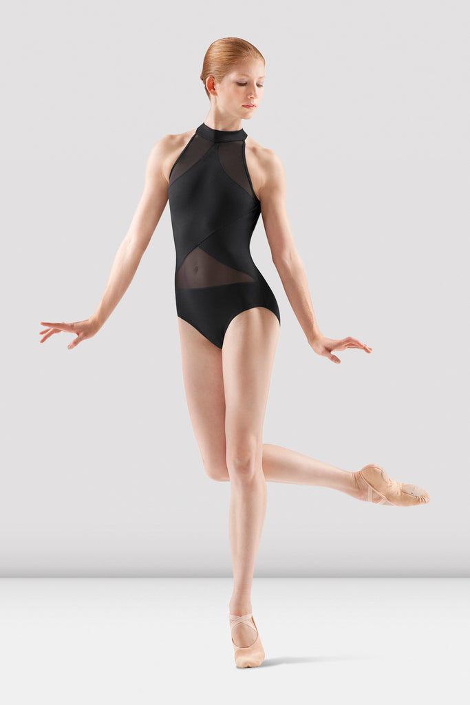 Ladies Sheer Panel Leotard